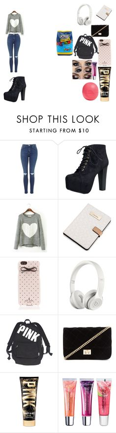 """Untitled #150"" by thattaurusnamedanii ❤ liked on Polyvore featuring Speed Limit 98, Calvin Klein, Kate Spade, Beats by Dr. Dre, Victoria's Secret, Forever 21, Maybelline, Eos and Hard Candy"