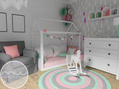 Projekt pokoju dla rodzeństwa w stylu skandynawskim