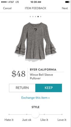 Warm sweater with some fun style elements, just what I'm looking for.