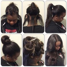 #mulpix High ponytail or bun??? NO PROBLEM!  ...PERFECT PONY SEW-IN HAIR WEAVES by Natalie B. (312) 273-8693...IG: @iamhairbynatalieb...FACEBOOK: Hair by Natalie B. .....ORDER HAIR: www.naturalgirlhair.com.