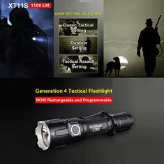 KLARUS MAKES SOME SERIOUSLY NICE FLASHLIGHTS. THIS XT11S COMPETES WITH THE TOP SHELF PLAYERS FOR MUCH LESS. http://www.banggood.com/KLARUS-XT11S-XP-L-HI-V3-1100LM-Classic-Tactical-Setting-Outdoor-LED-Flashlight-18650-p-1043633.html?p=UD02118312398201701E