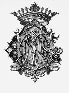 "Monogram ""Caston"" by Charles Demengeot - 1881"