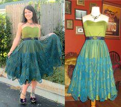 One of my favorite dresses I've ever made :) - Imgur  Ooooooo, a peacock dress!