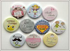 Badges personalisés pour vos événements (mariage, bapteme, anniversaire..)
