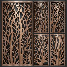 models: Other decorative objects - Decorative partition. Laser Cut Screens, Laser Cut Panels, Laser Cut Wood, Decorative Panels, Decorative Objects, Door Design, Wall Design, Pattern Wall, Cnc Cutting Design