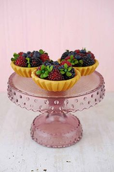 12.99 SALE PRICE! Display your cupcakes and muffins with elegant simplicity on this darling Glass Cake Stand in purple. Place a small cake, or an assortment ...