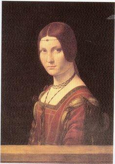 DA VINCI. Portrait of a Lady of the Court of Milan Portraits of  Women in Italian Renaissance Painting #TuscanyAgriturismoGiratola