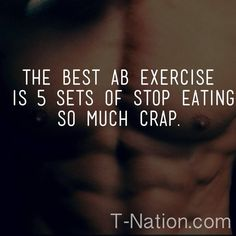 Image result for best exercise for abs is to push food away meme