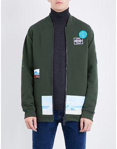 Kenzo Badge-detailed cotton-blend sweatshirt e52d45d97