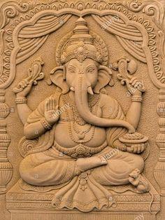 Hindu god ganesha lord of success Premiu. Ganesha Painting, Buddha Painting, Tanjore Painting, Arte Ganesha, Ganesh Idol, Lord Ganesha, Wood Carving Designs, Wood Carving Art, Stone Carving