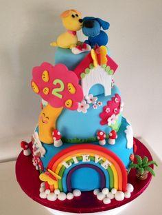 Woezel en Pip taart door Sylvie Vencken