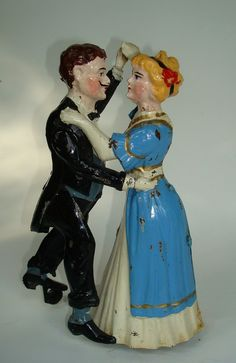 "Scarce blue Issmeyer  1905  ""Waltzing Couple"" -   excellent!!"