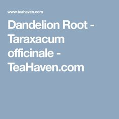 Dandelion root tea, Taraxacum officinale, provides many good health benefits. Use 1 teaspoon of dandelion root tea per cup boiling water and let brew for 10 minutes. Dandelion Root Tea, Taraxacum Officinale, Oolong Tea, Tea Blends, Brewing, Herbalism, Herbs, Pure Products, Health