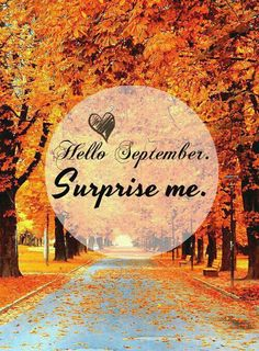 Hello September Surprise Me september hello september goodbye august hello september quotes september be good