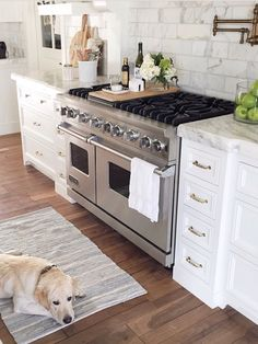 Love the narrow drawers for utensils, pot holders, etc. on either side of the stove.