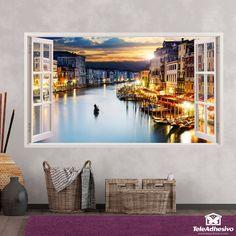 Ventana de vinilo disponible en Teleadhesivo Wall Murals, Tea Party, Windows, Living Room, Frame, Design, Home Decor, Decorating Tips, Wall