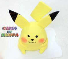 Pikachu cake from Pokemon  Learn hot to make it here: http://www.youtube.com/watch?v=LgLIXMGpfwE #pokemon #pikachu #pika
