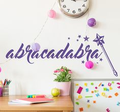Decorate your home with an originally magical sticker that will delight the youngest members of the house.  #abracadabra #decoration #kids #bedroom #home #magic #DIY #original #stickers #tenstickers