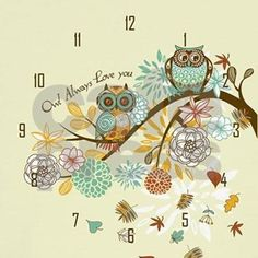 Autumn Owl Wall Clock by Gatterwe - CafePress Wall Clock Design, Color Combinations, Embroidery Designs, Owl, Autumn, Hats, Colour Combinations, Color Combinations Outfits, Fall