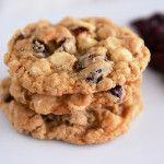 White Chocolate Oatmeal Craisin Coconut Cookies
