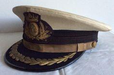 Gorra de plato de Jefe de Intendencia de la Armada. 1960-1976.