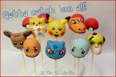 Pokemon cake pops by Let Them Eat Cake Pops ~ www.LetsEatCakePops.com #Pikachu