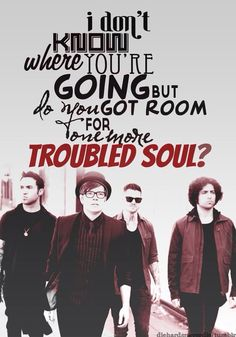 This is the road to ruin, and we're starting at the end.   #falloutboy  #alonetogether