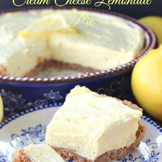 🔆CREAM CHEESE LEMONADE PIE 🔆 Yes I have a lemon fetish! And on a hot summer day, this cream cheese lemonade pie is just what is needed. This pie is cool, creamy, tart and full of lemony flavor. Lemon Curd Dessert, Lemon Dessert Recipes, Pie Dessert, Lemon Recipes, Easy Desserts, Delicious Desserts, Best Summer Desserts, Refreshing Desserts, Lemon Cheesecake