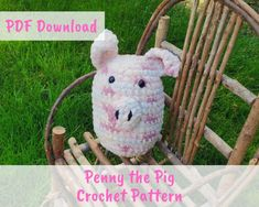 Penny the Pig Pattern | Easy and Free Crochet | Crafting at the Poole Crochet Crafts, Free Crochet, Crochet For Kids, Crochet Hooks, Front Post Double Crochet, Half Double Crochet, Single Crochet Decrease, Crochet Patterns, Turtle Pattern