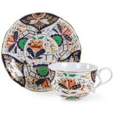 Imari Lotus Cup and Saucer