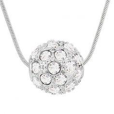 Linus Jade® Halskette made with SWAROVSKI® ELEMENTS Shamballa Kristall Crystal