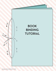 A simple book binding tutorial with both an illustration and step by step photo instructions. www.amyrobison.com/blog