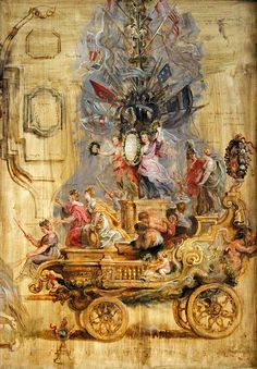 The Triumphal Chariot of Kallo, Peter Paul Rubens (1577-1640), 1638, oil on panel, 71 x 103 cm