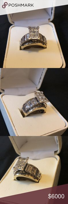 Women's Wedding Ring. One Incredible, Breath Taking, Exquisite Ladies 3 Carat Diamond Ring. Jewelry Rings
