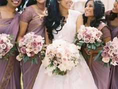 Some beautiful #pink & #purple wedding #bouquets by @brideandblossom