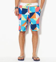 443f33e05c Check out these Multi Colorblock Board Shorts from #americaneagleoutfitters