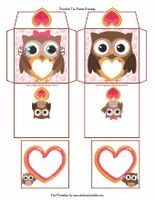 Valentine Owl Tea Bag Envelopes