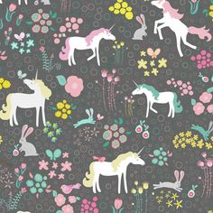 © Wendy Sloan Unicorns Bunnies and Bubbles by Mainsail Studio is a registered copyright. This fabric is only sold via Spoonflower by Mainsail Studio