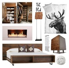 """THE BED SWISS CHALET"" by tiziana-melera ❤ liked on Polyvore featuring interior, interiors, interior design, home, home decor, interior decorating, GAS Jeans, Crate and Barrel, By Nord and Bloomingville"