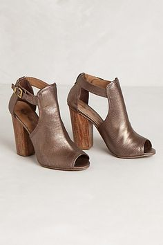 bronze cut out shoes. would go with everything!