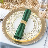 10344 7.5 Inch Venetian Ivory Salad Plates w Gold Swirls & 10.75
