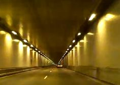 Take a trip through the East River Mountain Tunnel between Virginia and West Virginia.