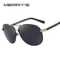 MERRY'S Men Classic Brand Sunglasses Luxury Aluminum Polarized Sunglasses EMI Defending Coating Lens Driving Shades S'8371