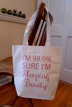 aa73946a64 Items similar to Sleeping beauty tote bag