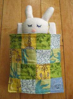 Adorable handmade bunny & wee quilt I'm in love!