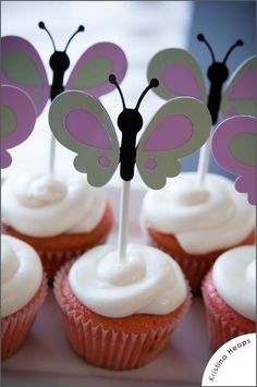 Butterfly Baby Shower Cupcakes