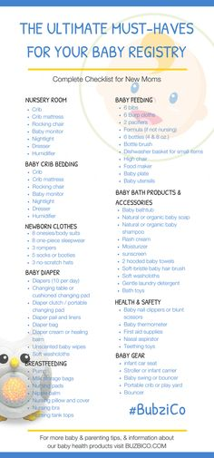 Your baby registry can be an overwhelming task for first time parents. But fear not, we've put together the ultimate baby registry checklist for new moms and dads. You'll find tips on the must-haves for any nursery as well as great ideas for baby products you won't be able to live without. So before you head to the store to make your list, check out these awesome ideas first from #BubziCo | Best Baby Stuff + Products + Must Have Essentials #NewMommyAdvice + Tips #NewbornCare #BabyShowerGifts
