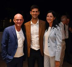 Hubert Freidl, Silvia Freidl and Novo Djokovic