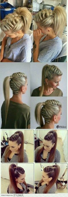 Twisted Crown Braid - 38 Quick and Easy Braided Hairstyles - The Trending Hairstyle Pretty Hairstyles, Girl Hairstyles, Braided Hairstyles, Wedding Hairstyles, Natural Hair Styles, Short Hair Styles, Viking Hair, Hair Dos, Hair Hacks