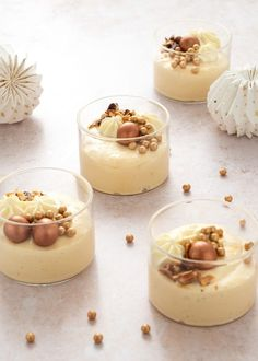 No Bake Desserts, Delicious Desserts, Eclairs, Mousse, Tapas, Panna Cotta, Sweet Tooth, Deserts, Food Porn